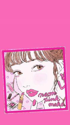 Kawaii Wallpaper, Iphone Wallpaper, Pink Walpaper, Free Barbie, Self Portrait Photography, Kawaii Girl, Art Girl, Pop Art, Girly