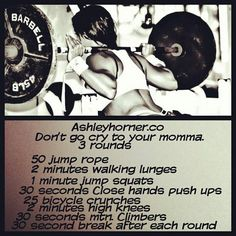 """From the lovely Ms. Ashley Horner...I believe I will adapt this on those off days. Because really, off days are only """"endurance days"""" and """"cardio days."""""""