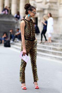 Natalie Alaverdian, Leopard Jumpsuit | Street Fashion | Street Peeper | Global Street Fashion and Street Style