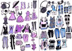 MixandMatch custom -Moon and Lightning by Guppie-Vibes on DeviantArt Fashion Design Drawings, Fashion Sketches, Art Sketches, Lightning Drawing, Drawing Anime Clothes, Clothing Sketches, Drawing Base, Art Challenge, Anime Outfits