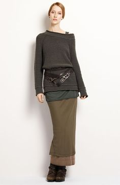 *similar look with black maxi skirt, long grey tatty jumper, hip bag/belt and long tank top Dona Karan, Beautiful Outfits, Cool Outfits, Ethno Style, Mode Inspiration, Passion For Fashion, What To Wear, Style Me, Winter Fashion