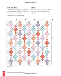Charm School 18 Quilts from Squares: A Beginner's Guide Colchas Quilt, Patch Quilt, Scrappy Quilts, Easy Quilts, Quilt Blocks, Charm Pack Quilt Patterns, Charm Pack Quilts, Charm Quilt, Quilt Block Patterns