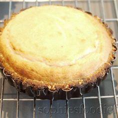Vegan baked banana & coconut cheesecake