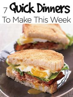 7 Quick Dinners To Make This Week - oh my goodness: these look delicous!