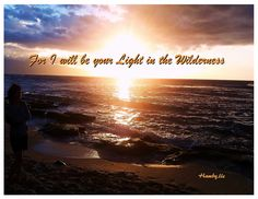 ...and I will be your light in the wilderness; and I will prepare the way before you, if it so be that ye shall keep my commandments; 1Nephi 17:13