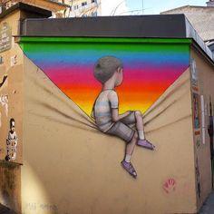 Muros viram obra de arte