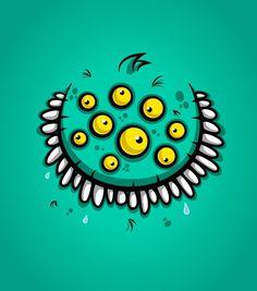 Monster Faces by Daniel Ferenčak - - Fribly Graffiti Doodles, Graffiti Cartoons, Graffiti Art, Graphic Design Illustration, Illustration Art, Character Illustration, Monster Illustration, Vector Illustrations, Cartoon Monsters