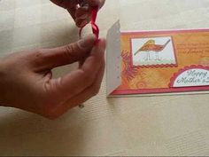 Flat Ribbon Trick for Card Making