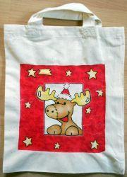 Weihnachtstasche-lustiges-Rentier---Elch