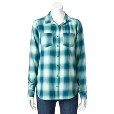 Women's SONOMA Goods for Life™ Plaid Flannel Shirt (size XL)