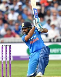 India's Rohit Sharma bats during the One Day International cricket match between England and India at Trent Bridge in Nottingham central England on July / RESTRICTED Get premium, high resolution news photos at Getty Images Icc Cricket, Cricket Bat, Cricket Sport, Cricket World Cup, Mumbai Indians Ipl, Bodybuilding Motivation Quotes, India Cricket Team, One Day International, Dhoni Wallpapers