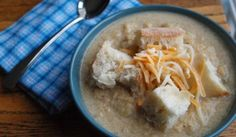 Low-fat cheese and omitting with cream make this dreamy soup a healthy dinnertime option.