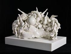 Rachel Kneebone - White Cube London Sculpture Images, Sculptures, Lion Sculpture, Contemporary Sculpture, Contemporary Ceramics, Frieze London, Dreams And Nightmares, William Blake, Cube