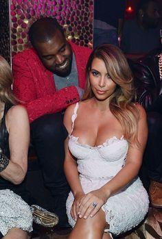 Pictures of Kanye West Checking Out Kim Kardashian | POPSUGAR Celebrity