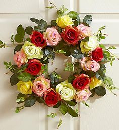 Silk Rose Wreath