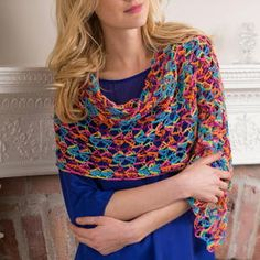 This Neon Light Crochet Shawl combines all the fun of neon colors and a lightweight pattern together for a magnificent crochet shawl pattern. Crochet Cape Pattern, Crochet Coat, Easy Crochet Patterns, Crochet Scarves, Crochet Shawl, Crochet Clothes, Crochet Prayer Shawls, All Free Crochet, Crochet Instructions
