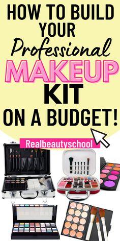 Makeup Artist Starter Kit, Makeup Artist Tips, Freelance Makeup Artist, Basic Makeup Kit, Professional Makeup Kit, Mua Makeup, Drugstore Makeup, Makeup Kit Essentials, Makeup To Buy