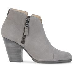 Womens Ankle Boots Rag & Bone Margot Grey Nubuck Ankle Boots ($535) ❤ liked on Polyvore featuring shoes, boots, ankle booties, botas, zapatos, gray ankle boots, studded boots, grey bootie, ankle boots and high heel booties