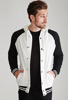Hooded Varsity Jacket | Forever 21