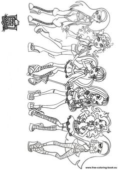 free printable monster high coloring page