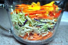 These colors look amazingly delicious. and I'll let you in on a little-known secret - this pickled vegetable sandwich slaw IS delicious! TRY IT TODAY! Onion Recipes, Chutney Recipes, Salad Recipes, Home Canning Recipes, Cooking Recipes, Yummy Recipes, Vegan Recipes, Pickle Onions Recipe, Pickled Vegetables Recipe