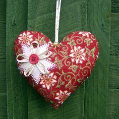 Folksy :: Buy Decoración del corazón de la Navidad | Jugo Craft
