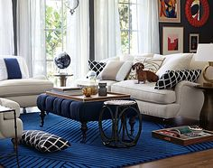 Slightly Obsessed with Serena & Lily - Kandrac & Kole Interior Designs, Inc. Home Living Room, Living Room Decor, Living Spaces, Living Area, Grey Lounge, Interior Decorating, Interior Design, Decoration, Family Room