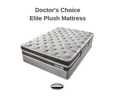 Doctor's Choice Elite gives you a luxurious sleep experience for unbeatable value. Enhanced support from our Balanced Orthopedic Sleep System (B.O.S.S.™) surrounds you in comfort, while 2LB HD Luxury Plush and 4LB Gel layers provide a supportive, cooling surface for your best sleep.