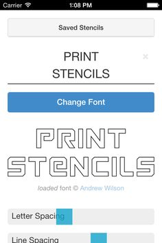 Free Stencil Maker  Make printable alphabet, letter, and number stencils. Great for painting, quilting, wood working, stained glass patterns, and other arts & crafts. Or make a stencil from a picture.