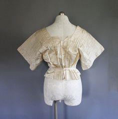 Edwardian silk kimono sleeve blouse.