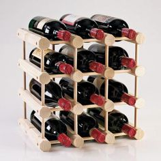 Wine Enthusiast Modular 12-Bottle Wine Rack in Natural-640 11 01 at The Home Depot
