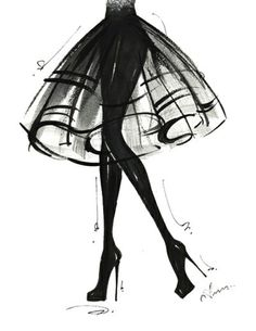 Anum Black and white fashion illustration