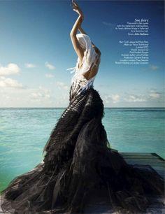 editorial, fashion, mermaid, vogue