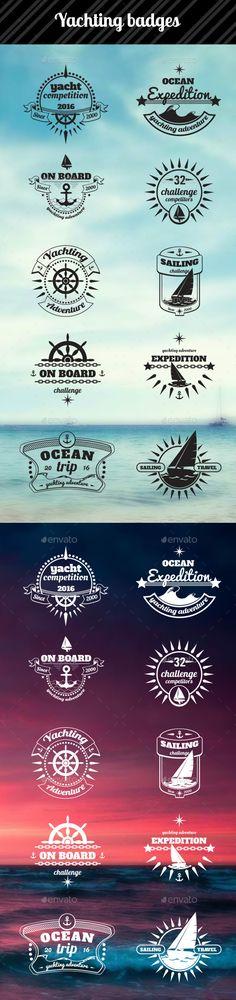 Yachting Badges Design #labels download: http://graphicriver.net/item/yachting-badges/11827538?ref=ksioks