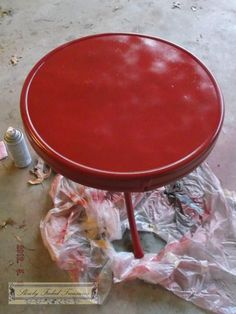 tutorial - refinished outdoor furniture