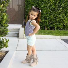 A mini Ariana Grande in the making! Featuring: @leotardshop, @hm