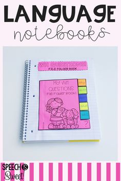 Interactive Language Notebooks for kindergarten through second grade! Great activities for speech-language therapy or the classroom. These fun and engaging activities serve to teach, reinforce, and review language skills!