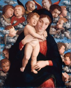 Madonna and Child with a Choir of Cherubs (Madonna of Cherubs) - Andrea Mantegna