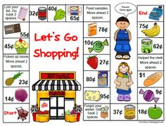 "Money activities: FREE ""Let's Go Shopping!"" money game."