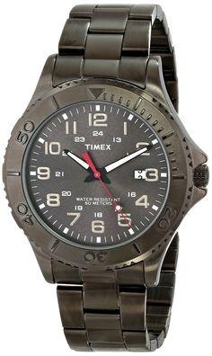 b39dd94cba4 Timex Men s Dress Gunmetal Gray Watch with Stainless Steel Bracelet