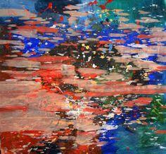 """Me voy a correr por el campo, un juego de luces y colores me espera / Greg Rivera; Acrylic, 2012, Painting """"Before Goa"""""""