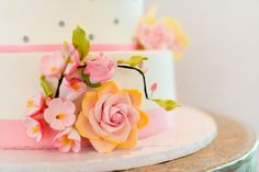 Floral Wedding Cake   - Kirsten Smith Photography