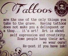 Share if you agree! #tattooslastforever