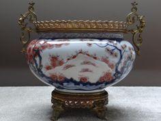 Jardinière en porcelaine de Bayeux ou de Chine à Décor Imari  monture bronze du XIXème siècle, Van Rijn, Proanticl