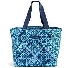 Vera Bradley Drawstring Family Tote In Havana Dots 58 Liked On Polyvore Featuring