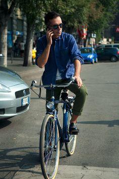 MFW S/S2012 Andrea Incontri #fashion #men #bike winning combination | Shared from http://hikebike.net
