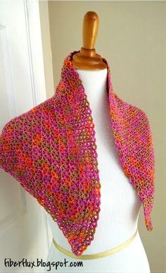 Fiber Flux...Adventures in Stitching: Free Crochet Pattern...Zinnia Flower Shawl!