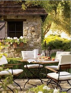 Ordinaire Countryside French Provincial Outdoor Dining Of The Backyard Patio. Find  This Pin And More On Outside Living Concepts ...