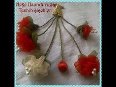 Mahi Karpinar shared a video Diy Lace Ribbon Flowers, Ribbon Flower Tutorial, Nylon Flowers, Cloth Flowers, Fabric Flowers, Silk Ribbon Embroidery, Fabric Ribbon, Ribbon Crafts, Flower Crafts