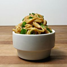 """""""The Heat Is On"""" Spicy Cold Noodles - Cooking with Cakes - use vegetable broth instead of chicken broth"""